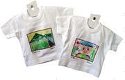 『農』 絵画コンクール入賞者記念品 「応募作品をプリントしたミニTシャツ」